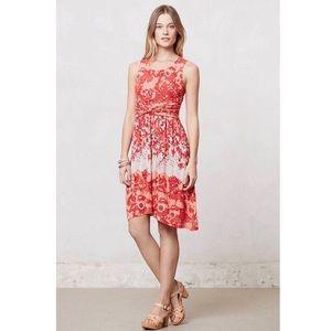 Anthropologie Lilka Coral Gardens Floral Dress